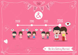 Men S Valentine S Day by Duration Cute Cartoon Wedding Couple Men And Women Card For Thai