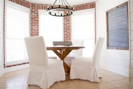 round farmhouse dining table little red brick house