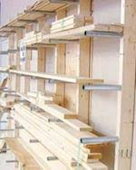 workshop lumber storage racks at woodworkersworkshop com
