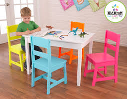 5 Piece Folding Table And Chair Set Kidkraft Highlighter Kids 5 Piece Table And Chair Set Walmart Com