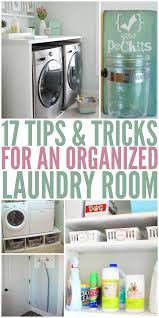 tips and tricks for an organized laundry room