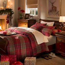 dorma red balmoral check duvet cover set dunelm bed linens
