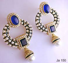 earrings online buy blue pearl earrings online in india at cooliyo coolest