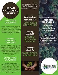 urban gardening raising backyard chickens hudson area library