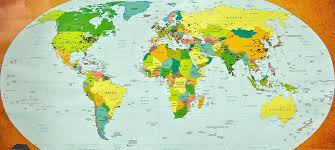 Large World Map Poster World Map Time Zone Suggests Me