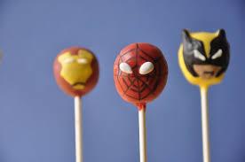 characters spiderman super heros cake pops cupcakes sweet