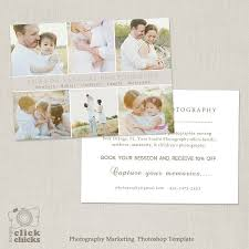 promo card photography marketing template flyer