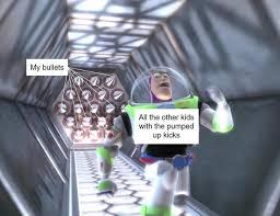 Buzz Lightyear Memes - buzz lightyear outruns spikes buzz lightyear meme and running