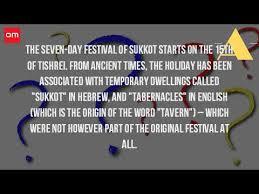 what is the origin of sukkot