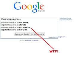 Memes De Google - las busquedas de google son eta esperanza aguirre es un mapache