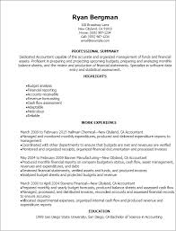 professional accountant resume templates to showcase your talent