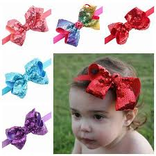 christmas hair accessories 2018 baby sequin headbands for christmas hair bows cheer bow