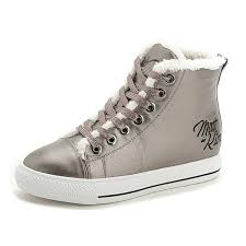 btrada women u0027s high top fashion flat sneaker plus velvet lace up