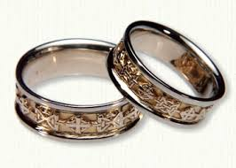 Celtic Wedding Rings by Hugs U0026 Kisses Wedding Rings Custom Celtic Wedding Rings Best