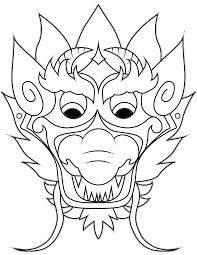 dragon mask u2013 simple easy dragon crafts paper