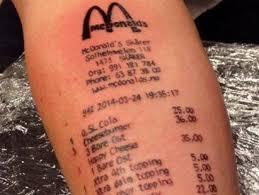 love maccas teen tattoos receipt to his arm sunshine coast daily
