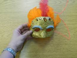 that artist woman plaster masks