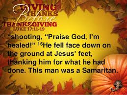 giving thanks before thanksgiving