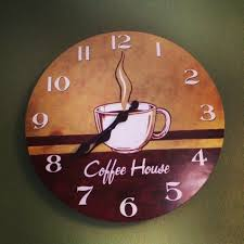 themed wall clock coffee themed kitchen wall clocks