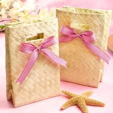 wedding favor bag palm leaf mini tote favor bag 10 pcs theme wedding