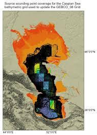 Caspian Sea World Map by Gebco 08 Grid Version 20100927