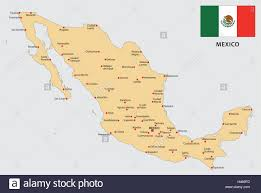 Oaxaca Mexico Map Mexico Map With Flag Stock Vector Art U0026 Illustration Vector Image