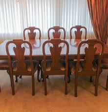 queen anne dining room table davis cabinet co walnut queen anne dining table and twelve chairs