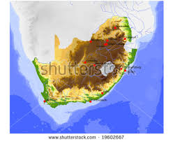 africa map elevation south africa vector map free vector stock graphics