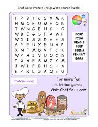 printable word search puzzle protein group