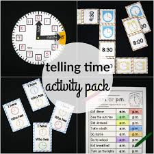 telling time activity pack the stem laboratory