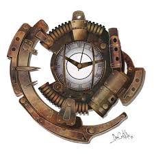 steampunk clock by nary san on deviantart