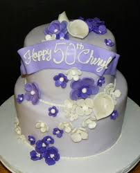 plumeria cake studio purple flowers birthday cake