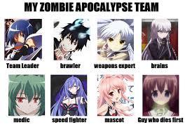 Shlick Meme - my zombie anime apocalypse team meme by moonbeatz on deviantart