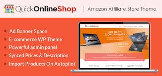 quickonlineshop amazon affiliate store builder wordpress theme