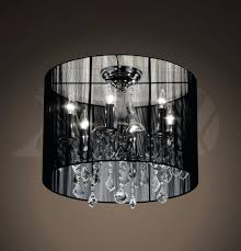Oval Crystal Chandelier Chandeliers Crystal Chandelier With Gray Shade Modern Crystal
