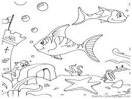 preschool fish printable coloring pages