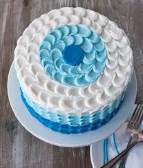 photo cakes blue petal ombre cake edgar s bakery