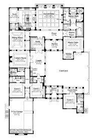 u shaped home plans with courtyard