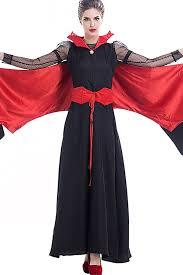 black red vampire bat women gothic halloween costume