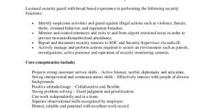 Security Guard Resume Sample No Experience by Unarmed Security Resume Security Guard Resume Sample Resume Sample