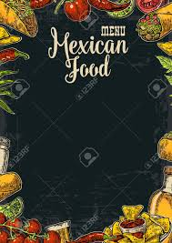 thanksgiving menu template mexican traditional food restaurant menu template with traditional