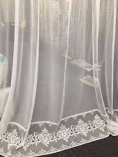 Curtains 145 Cm Drop Window Lace Curtains Ebay