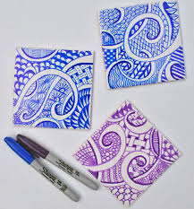 how to make a zendoodle how to make a zen doodle coaster
