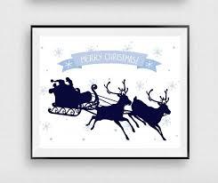 merry christmas printable santa claus print christmas sign