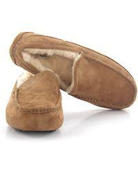 uggs bedroom slippers ugg slippers ascot leather black lamb fur in black lyst