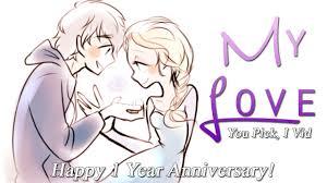 1 yr anniversary non disney my happy 1 year anniversary
