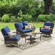 Swivel Wicker Patio Chairs by Better Homes And Gardens Colebrook 4 Piece Outdoor Conversation