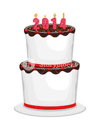 Happy New Year Cake Decoration by Happy New Year 2014 Cake Vector Royalty Free Stock Image Storyblocks