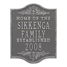 custom address plaques address signs the home depot