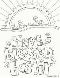easter coloring pages and printables at religious doodles free